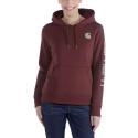(102791) Carhartt Clarksburg Sleeve Logo női kapucnis pulóver