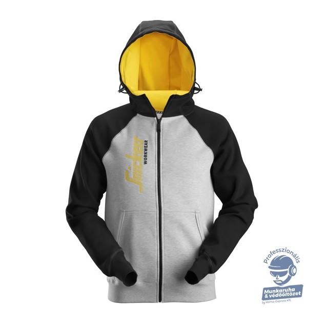 (2888) Snickers Logo cipzáras kapucnis pulóver